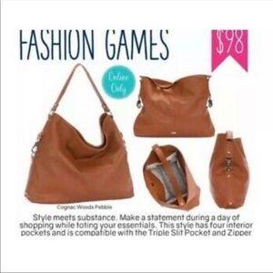 Thirty-One Fashion Games Jewell Purse cognac